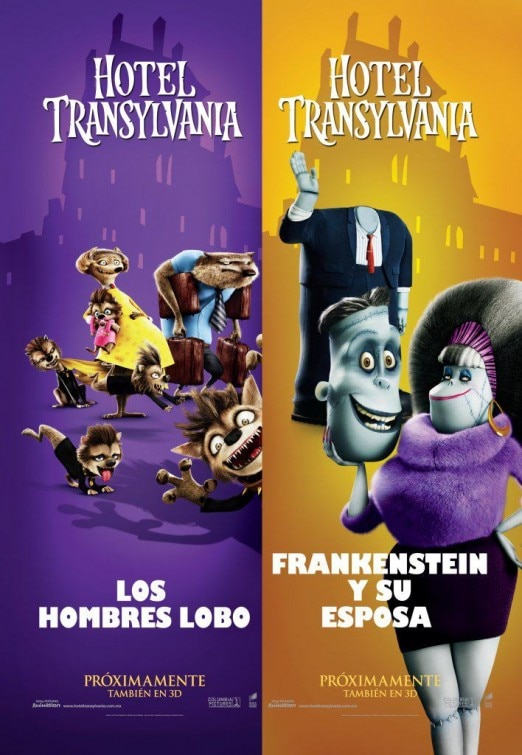 Three International Character One-Sheets: Hotel Transylvania