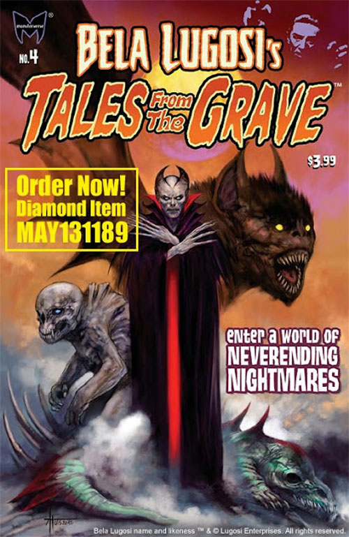 Artwork for Bela Lugosi's Tales from the Grave #4 and Flesh and Blood #3 from Monsterverse