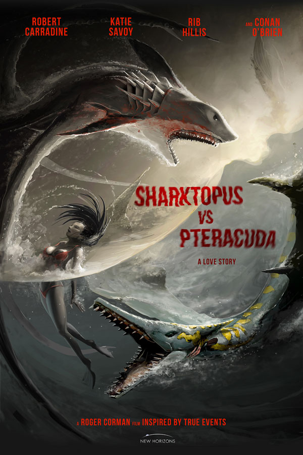 Loving First Poster for Sharktopus vs. Pteracuda - Dread ...
