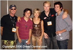 Driftwood cast (from L to R): Marc McClure, Ricky Ullman, Lin Shaye, director Tim Sullivan, and Talan Torreiro