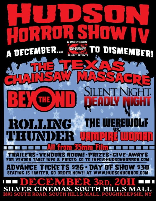 Hudson Horror Show IV Announces Killer Line-Up for Next Event