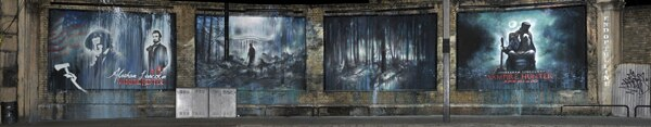 London Honors Abraham Lincoln: Vampire Hunter with a Mural (click for larger image)