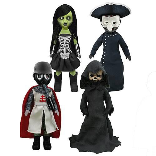 Mezco Unveils the Living Dead Dolls Four Horsemen of the Apocalypse