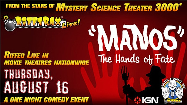 RiffTrax Returning to Theaters to Tempt Manos: The Hands of Fate
