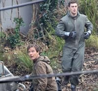 Another Look at Aaron Taylor-Johnson and Bryan Cranston on the set of Godzilla