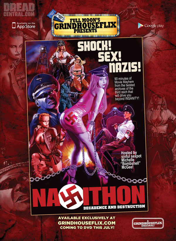 Michelle Bombshell McGee in Full Moon's Grindhouse Effort Nazithon