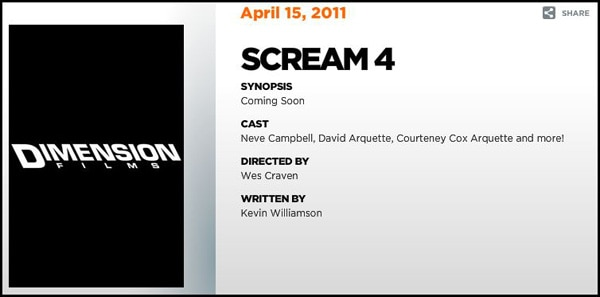 Random Bits of Scream 4 Stuffage