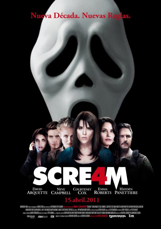 International Scream 4 One-Sheet Dawns and that Red Stuff isn't Salsa