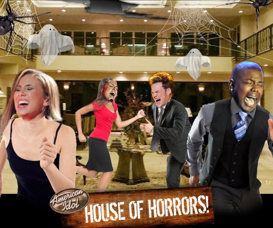 American Idol Contestants Flee Haunted House. No Really!
