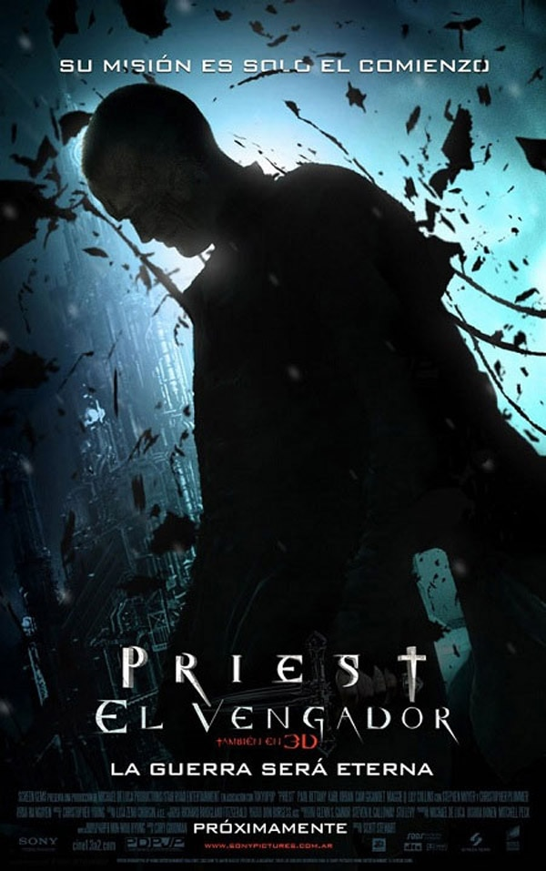 New International One-Sheet and Stills: Priest 3D