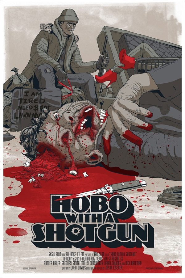Hobo with a Shotgun Blasting His Way to Theatres; New Trailer Competition