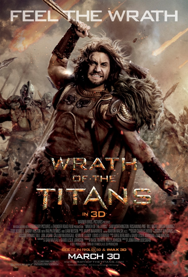 Ares - The God of War Takes Center Stage in Latest Wrath of the Titans One-Sheet