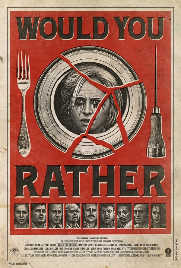Plate Shattering New One-Sheet for Would You Rather