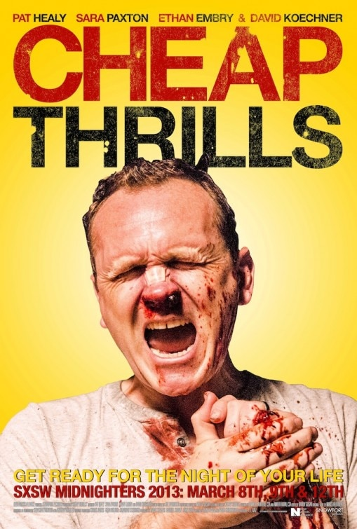 SXSW 2013: Cheap Thrills Poster is a Real Scream