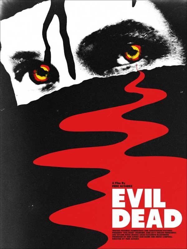 Super Cool Fan-Made Retro Evil Dead Poster Stares Back at You