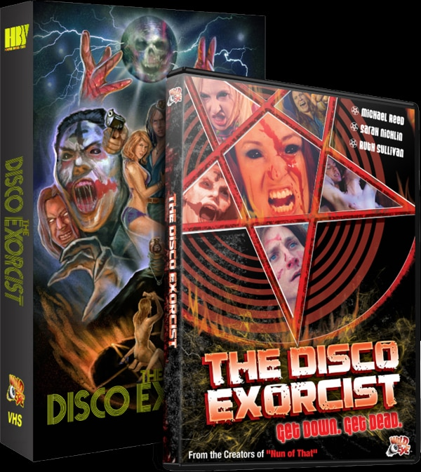 Get Your Retro On with Wild Eye and Horror Boobs' VHS Releases of The Disco Exorcist and Mold!