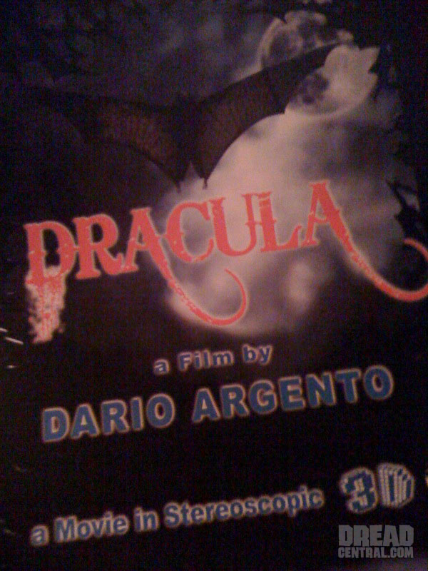 Dario Argento's Dracula 3D Shooting in February