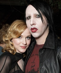 Marilyn Manson and Evan Rachel Wood Are Splatter Sisters