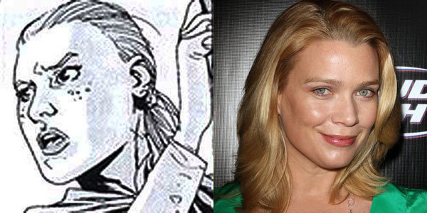 Laurie Holden Becomes One of The Walking Dead