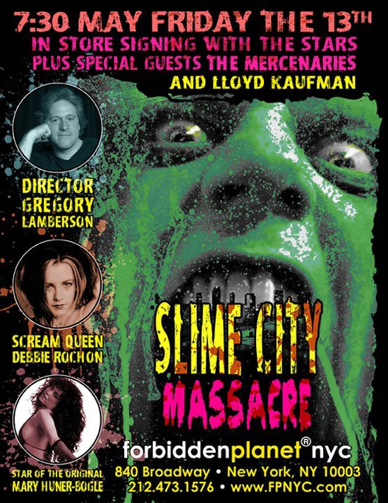 Slime City Massacre DVD Signing at NYC's Forbidden Planet