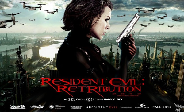 Dozens and Dozens of Resident Evil: Retribution One-Sheets (click for larger image)