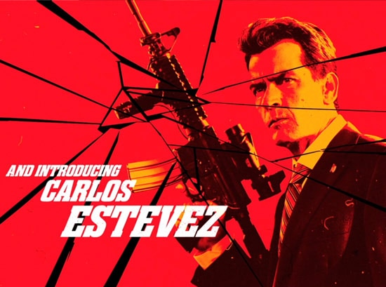 Charlie Sheen Going Full Latino for Machete Kills
