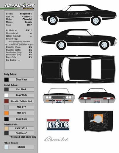 San Diego Comic-Con 2014: CineQuest Reveals Its #SDCC14 Exclusive Supernatural Die-Cast Metallicar