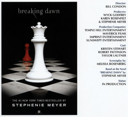 AFM 2010: Official Synopsis for The Twilight Saga: Breaking Dawn