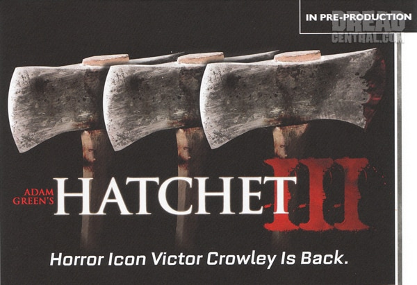 AFM 2011: No Brainer Hatchet 3 Sales Art!
