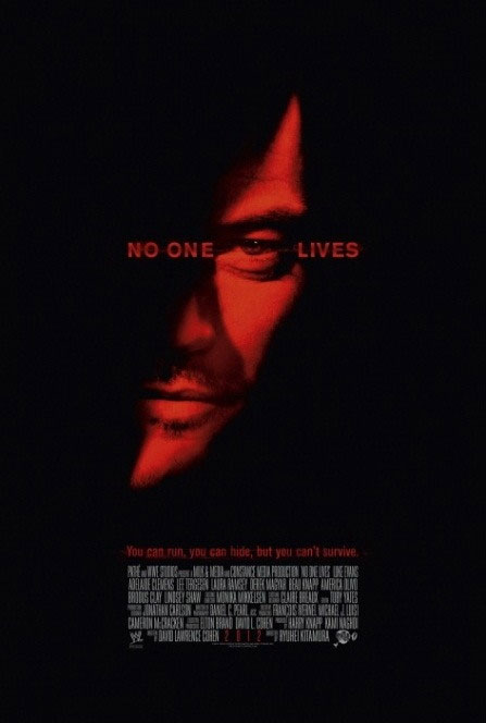 International One-Sheet for No One Lives Revels in Red