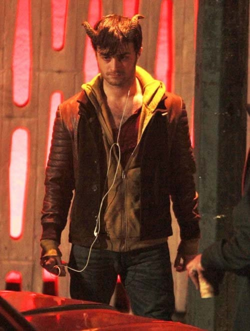 Daniel Radcliffe Gets Physical on the Set of Horns