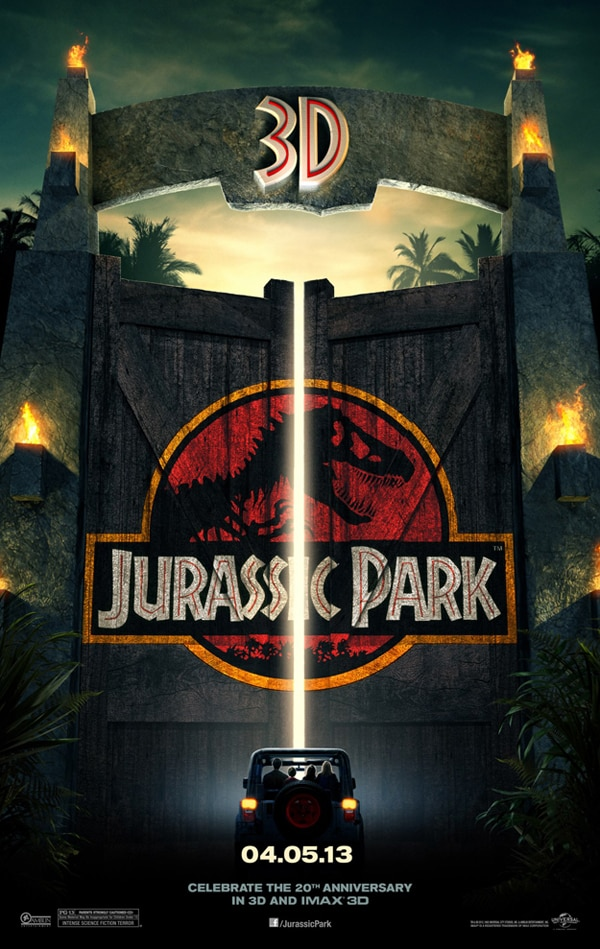 Jurassic Park 3D One-Sheet Opens Up
