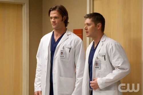 A scene from Supernatural Season Five, Episode 8