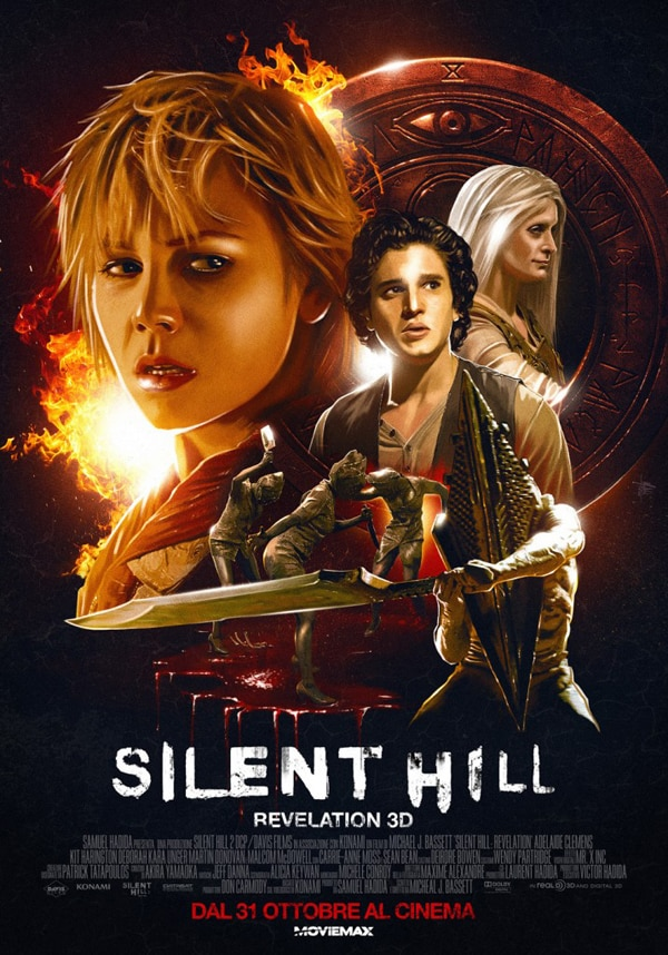 Italian Silent Hill Revelation: One-Sheet All Drawn Out