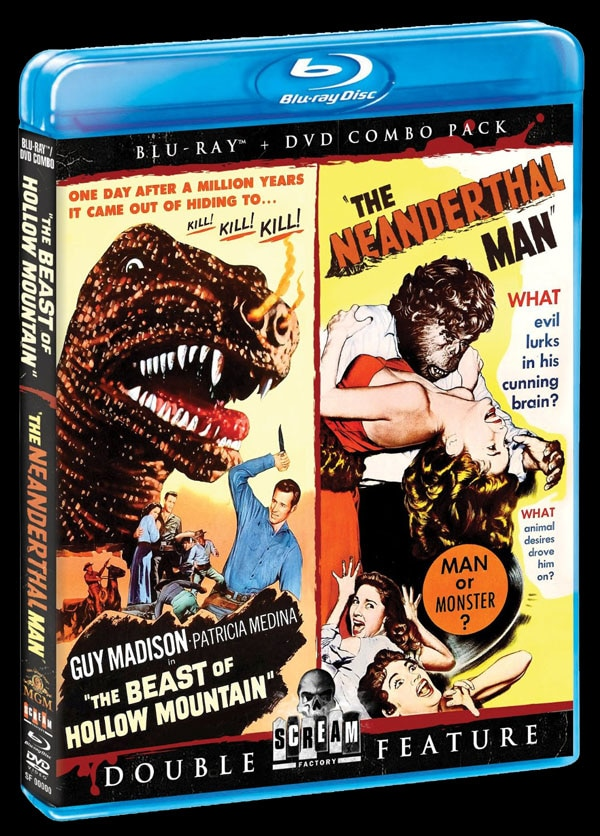 The Beast of Hollow Mountain Neanderthal Man Blu-ray