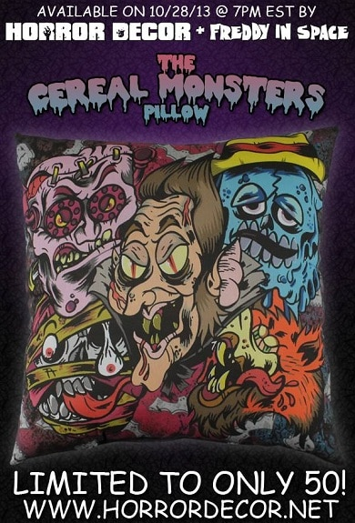 Horror Decor Cereal Pillow