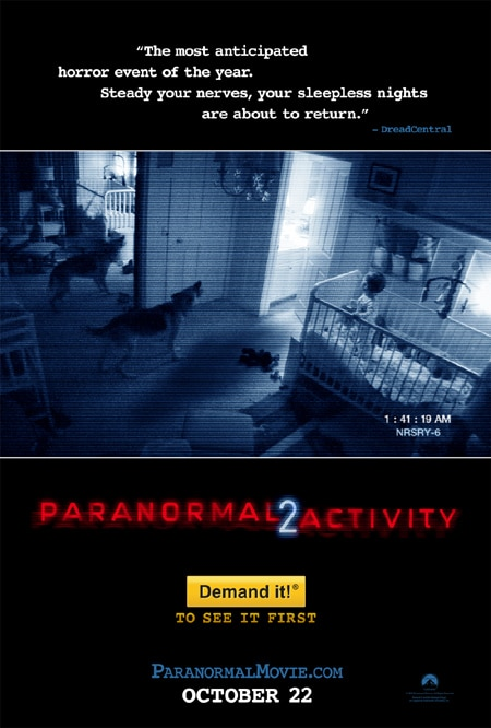 Paranormal Activity 2 Scares Up HUGE Single Day Box Office