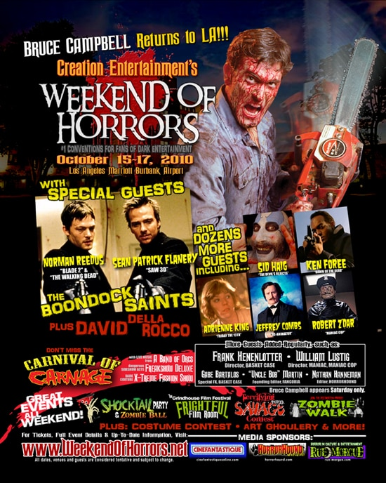 Win Tickets to the Creation Weekend of Horrors!