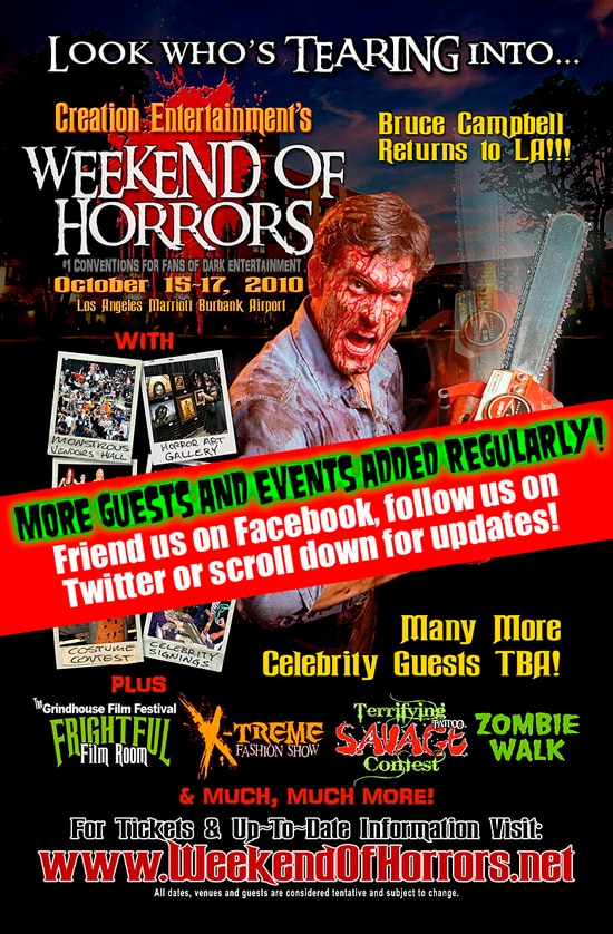 First Batch of Guests Announced for Creation's October Weekend of Horrors
