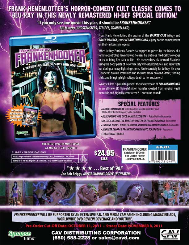 Make a Date with Frankenhooker on Blu-ray
