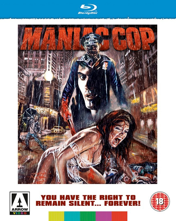 Maniac Cop Stalks UK Blu-ray Courtesy of Arrow Video