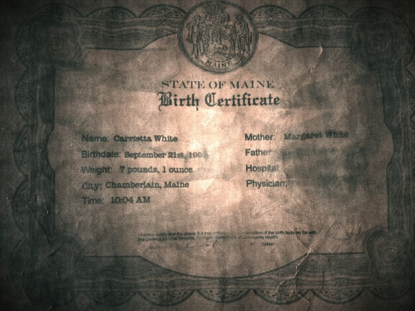 Birth Certificate Found on Facebook for Carrie (click for larger image)