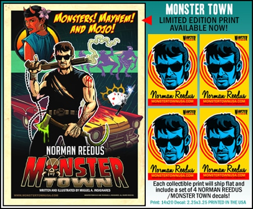 First Details on Monster Town Comic Featuring Norman Reedus' Likeness