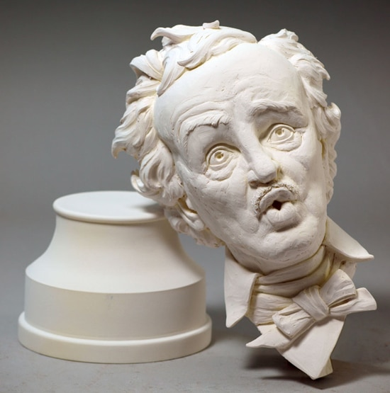 Edgar Allan Poe Says Boo! in This New Collectible Bust from Tim Bruckner