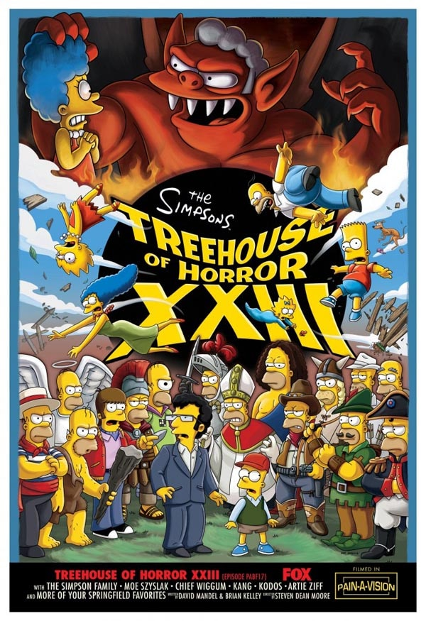 An Early Look at The Simpsons' Treehouse of Horror XXIII