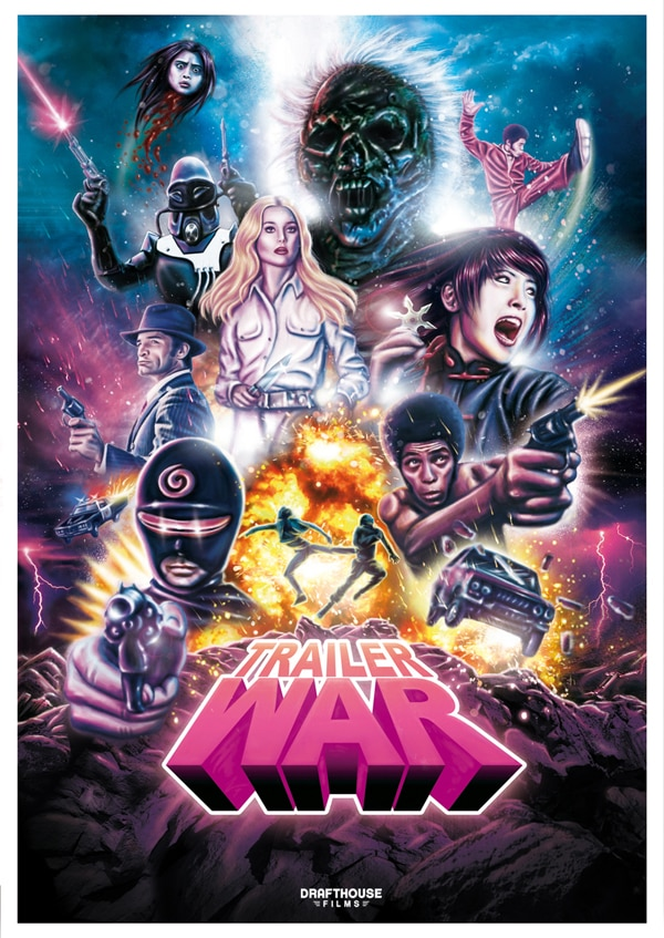 Artwork and NSFW Trailer for Drafthouse Films' Exploitation Compilation Trailer War