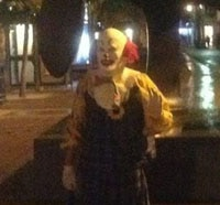 Real Life Evil Clown Terrorizing Town in England!