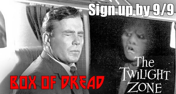 Subscribe to Box of Dread's Twilight Zone September to Win The Walking Dead Season 4 Seventh Box
