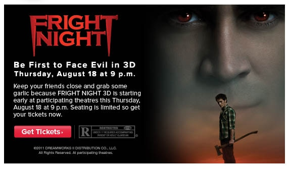See Fright Night Early at AMC Theatres