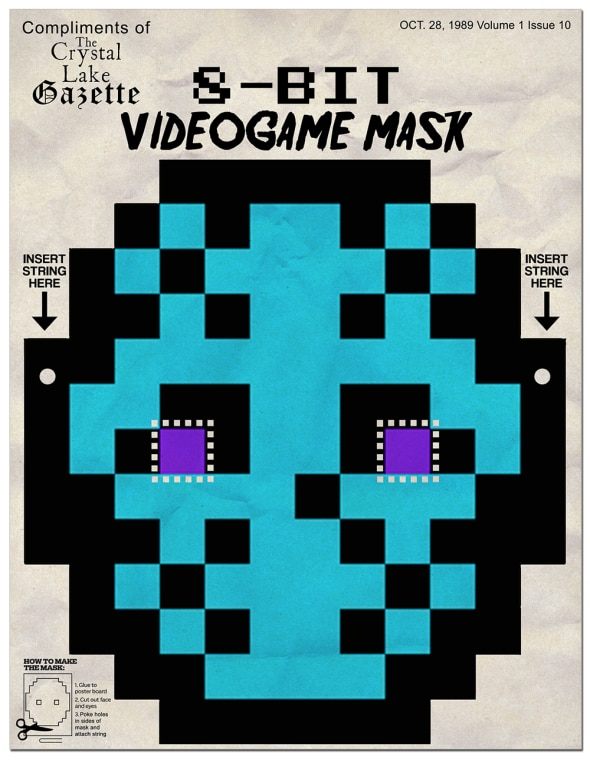 8bitmask - Print Out Your Own NES 8-Bit Jason Voorhees Mask